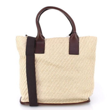 Dolce & Gabbana Beige leather travel tote bag