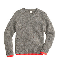 crewcuts Boys Neon-Tipped Donegal Wool Sweater