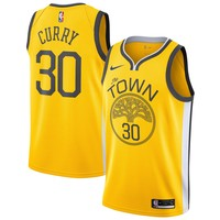 Men's Golden State Warriors Stephen Curry Nike Yellow 2018/19 Swingman Jersey – Earned Edition - Best Deal Online