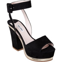 Miu Miu Ankle Strap Sandal at Barneys.com