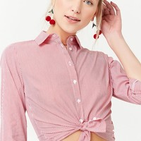 Pinstriped Button-Down Shirt