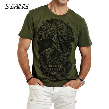 mens t shirt  Swag Cotton Clothing T-shirts Men 3D T-Shirt Fitness tops Tees Skateboard Men Skull T-shirt