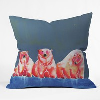Clara Nilles Polarbear Blush Throw Pillow
