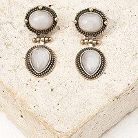 Faux Stone Drop Earrings