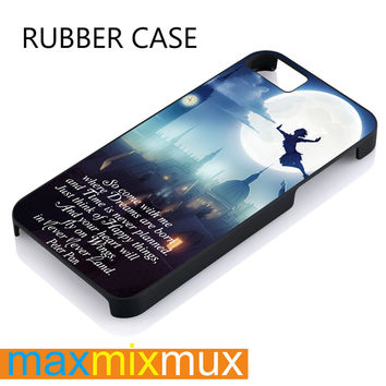 Peter Pan Quote iPhone 4/4S, 5/5S, 5C, 6/6 Plus Series Rubber Case