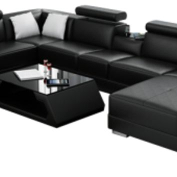 Ello Leather Sectional by Scene Furniture from Opulent Items IHSO02372