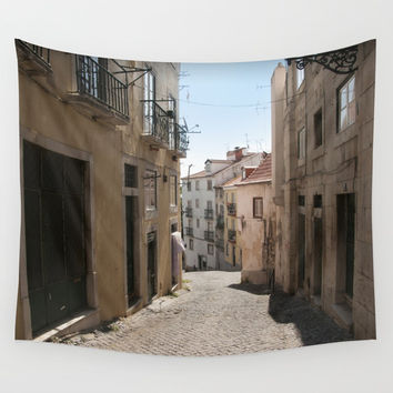 Travel Series: Lisbon Wall Tapestry by Short Circuits & Folding Mirrors