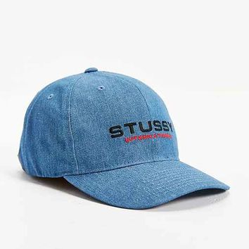 Stussy International Strapback Hat- Light Blue One