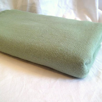 Vintage Woven Fabric Celery Green