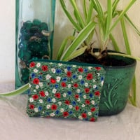 Coin Purse Cotton Floral Poppy Field