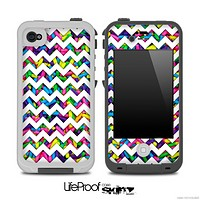 Chevron Pattern Skin With Neon Sprinkles for the iPhone 5 or 4/4s LifeProof Case
