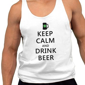Keep Calm and Drink Beer Mens String Tank Top