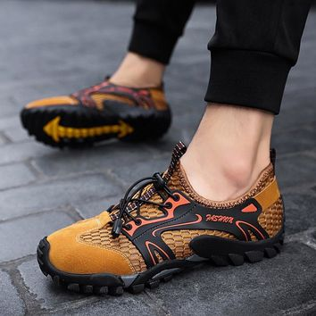 Men Outdoor Aqua Shoes Breathable Beach Clogs Sneakers Sandals Male Trekking Trail Wading Garden Hiking Shoes Big Size 39-48
