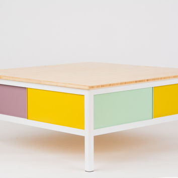 "quick pick colorful coffee table #1 ""peep"""