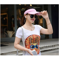 Unisex Summer Golf Tennis Hats Women Men Sports Wide Brim Beach Visor Sun Hat Caps Hot
