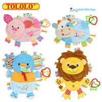 Baby Toys 0-12 Month Infant Soft Towels Handkerchief Playmate Rattles Mobiles Educational Doll For Children Newborn Babies Kids