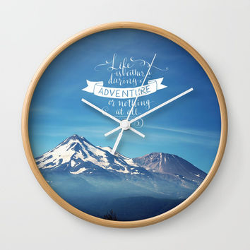 daring adventure Wall Clock by Sylvia Cook Photography