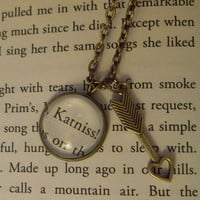 Katniss - The Hunger Games - Recycled Book Necklace
