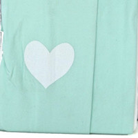 Mint Green Heart Tattoo Tights
