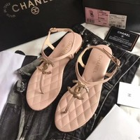 shosouvenir 【CHANEL】Sheepskin metal buckle sandals