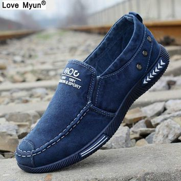 Canvas Men Shoes Denim Lace-Up Men Casual Shoes New Plimsolls Breathable Male Footwear Spring Autumn 887