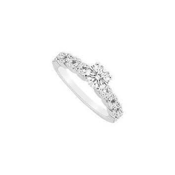 14K White Gold Semi Mount Engagement Ring with 0.25 Carat Diamonds Not Included Center Diamond