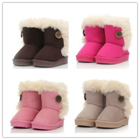 2014New children snow boots fur winter girls Children Thicken Shoes For baby Kids child snow boots 5 colour = 1931424068