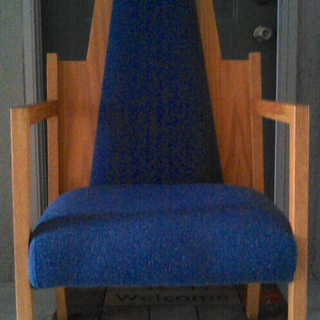 Vintage Danish Or Mid Century Modern Blue Chair