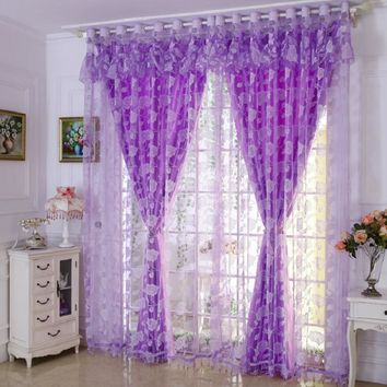 Farenhot Blackout Curtain and Tulle, Window Curtains Set for Bedroom, Living Room and more.