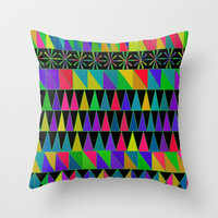 Rows of Shapes Throw Pillow by pugmom4 | Society6