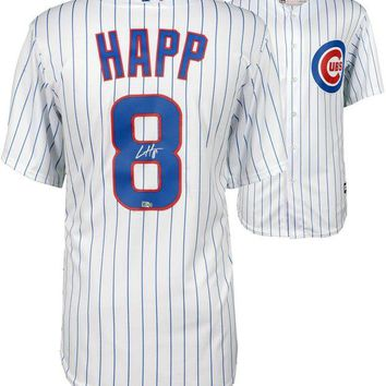 ONETOW Ian Happ Signed Autographed Chicago Cubs Baseball Jersey (MLB Authenticated)