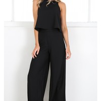 Work For It two piece set in black