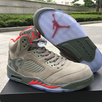 "Air Jordan 5 ""Camo"" 3M Sport Basketball Shoes"