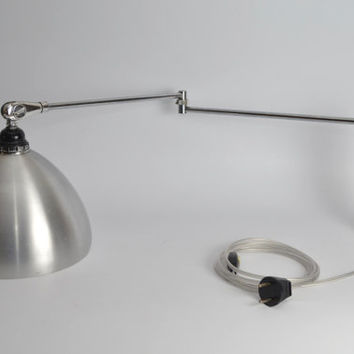 Midcentury metal wall lamp from the 60s, Philips Dutch Design