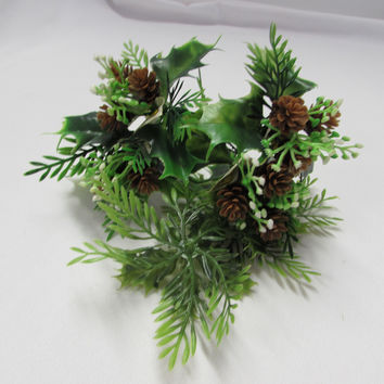 Vintage Pinecone Greenery Floral Picks