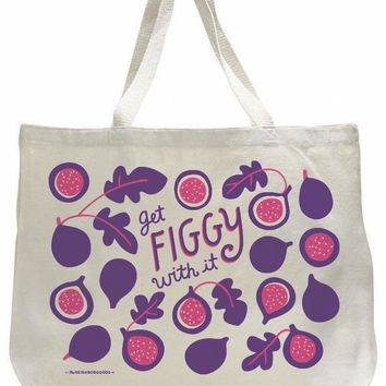 Get Figgy With It Cotton Tote Bag