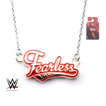 "WWE NIKKI """"FEARLESS"""" NECKLACE W/ 1"