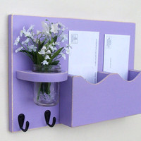 Mail Key Holder - Mail Organizer - Mail Holder - Mason Jar