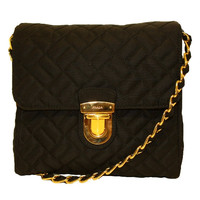 Prada Quilted Chain Handbag Bp0623 Black