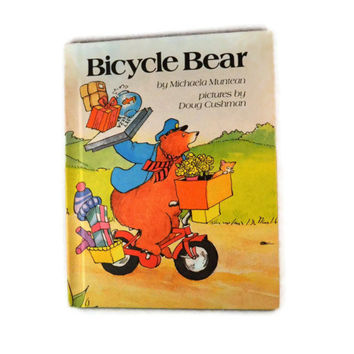 Vintage 1983 Bicycle Bear By MIchaela Muntean,Vintage Delivery Bear Book For Kids
