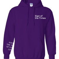 """Harry Styles """"Sign of the Times / Have the Time of Your Life SLEEVE"""" Hoodie Sweatshirt"""