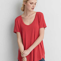 AEO Soft & Sexy Short Sleeve T-Shirt , Red