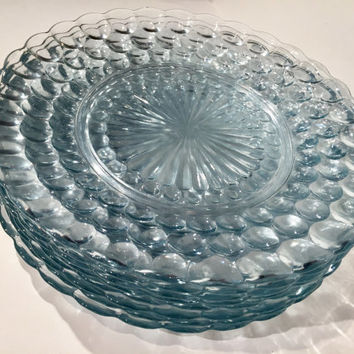 Bubble Glass Dinner Plates Set of 8 Anchor Hocking Bubble Glass Dinner Plates| Wedding Decor