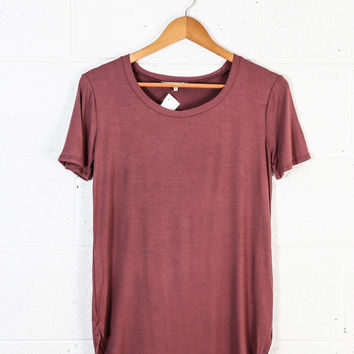Timeless Tee, Red Brown