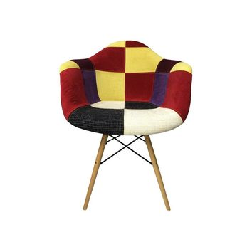 DAW Eiffel Patchwork Armchair - C - Reproduction