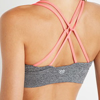 Low Impact - Crisscross-Back Heathered Sports Bra