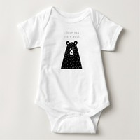 I Love You Beary Much Baby Bodysuit