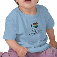 """I Love My Mommies"" Lesbian Pride Print T Shirt from Zazzle.com"