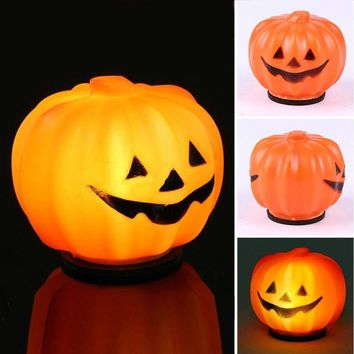 Orange LED Pumpkin battery operated for Halloween Luminous Lighting Festival Home Garden Party Christmas Decoration