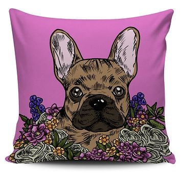 Illustrated French Bulldog Pillow Cover